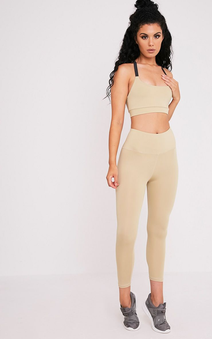 Brooke Stone Cropped Gym Leggings 1