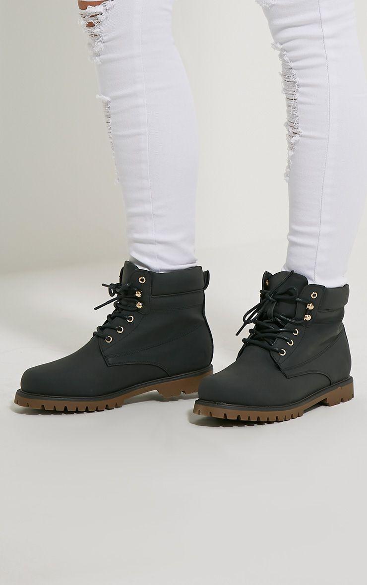 Arwen Black Lace Up Boots 1