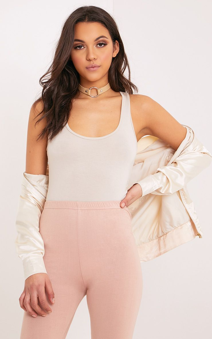 Basic Stone Racer Back Bodysuit