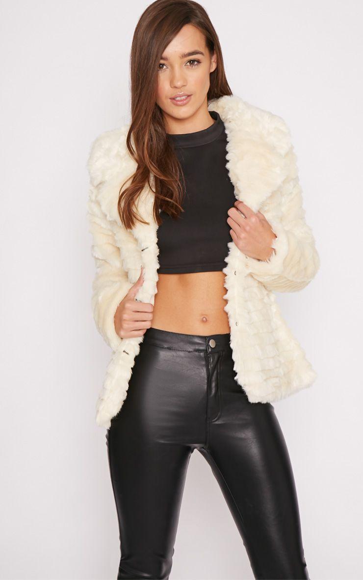 Leela Cream Fur Coat  1