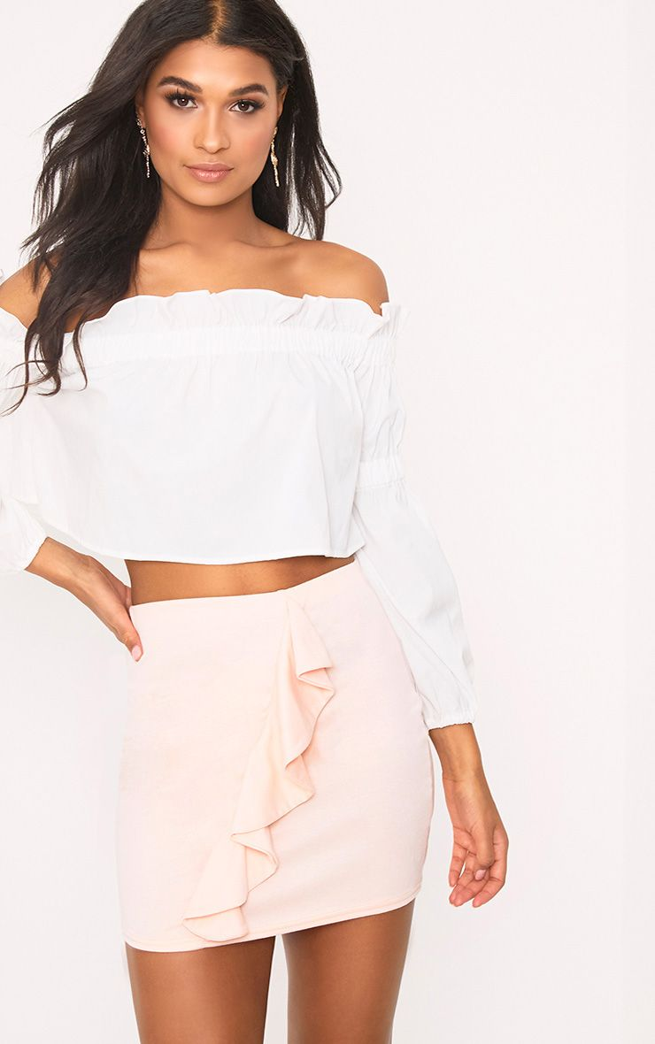 Blush Ruffle Mini Skirt