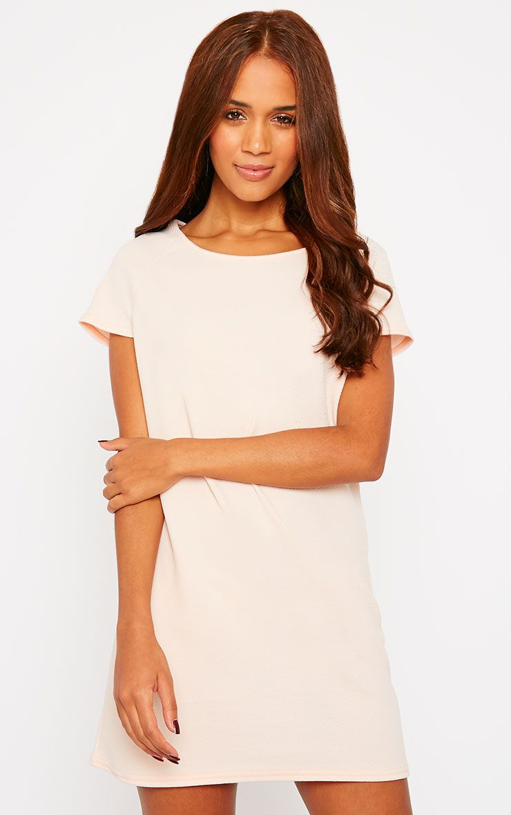 Camila Nude Loose Fit Shift Dress 1