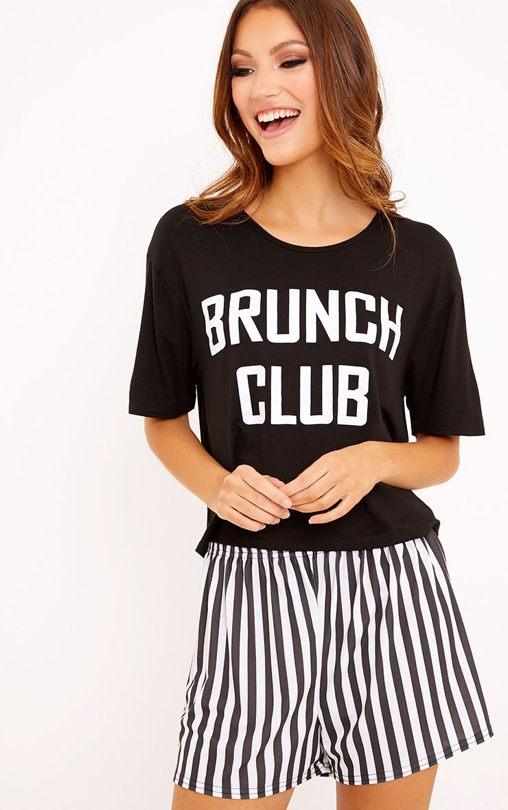 Brunch Club Black PJ Set