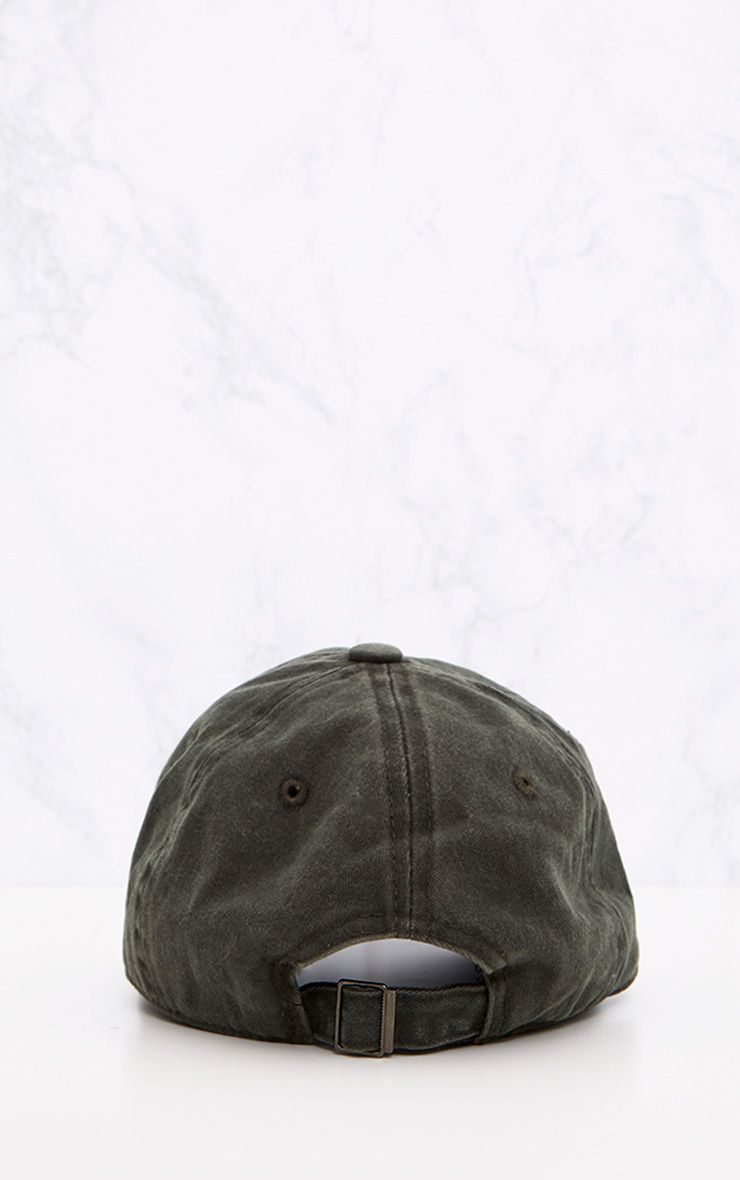 Grey Distressed Front Cap 4