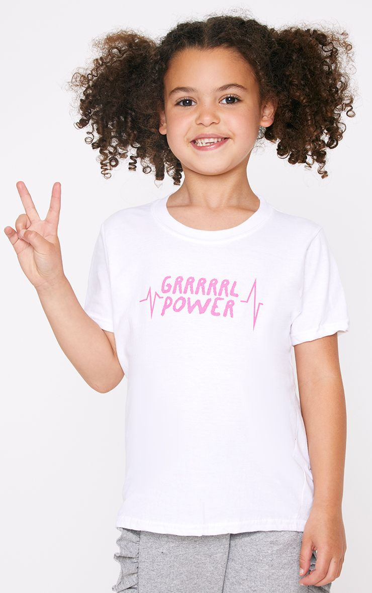 Girl Power White T Shirt