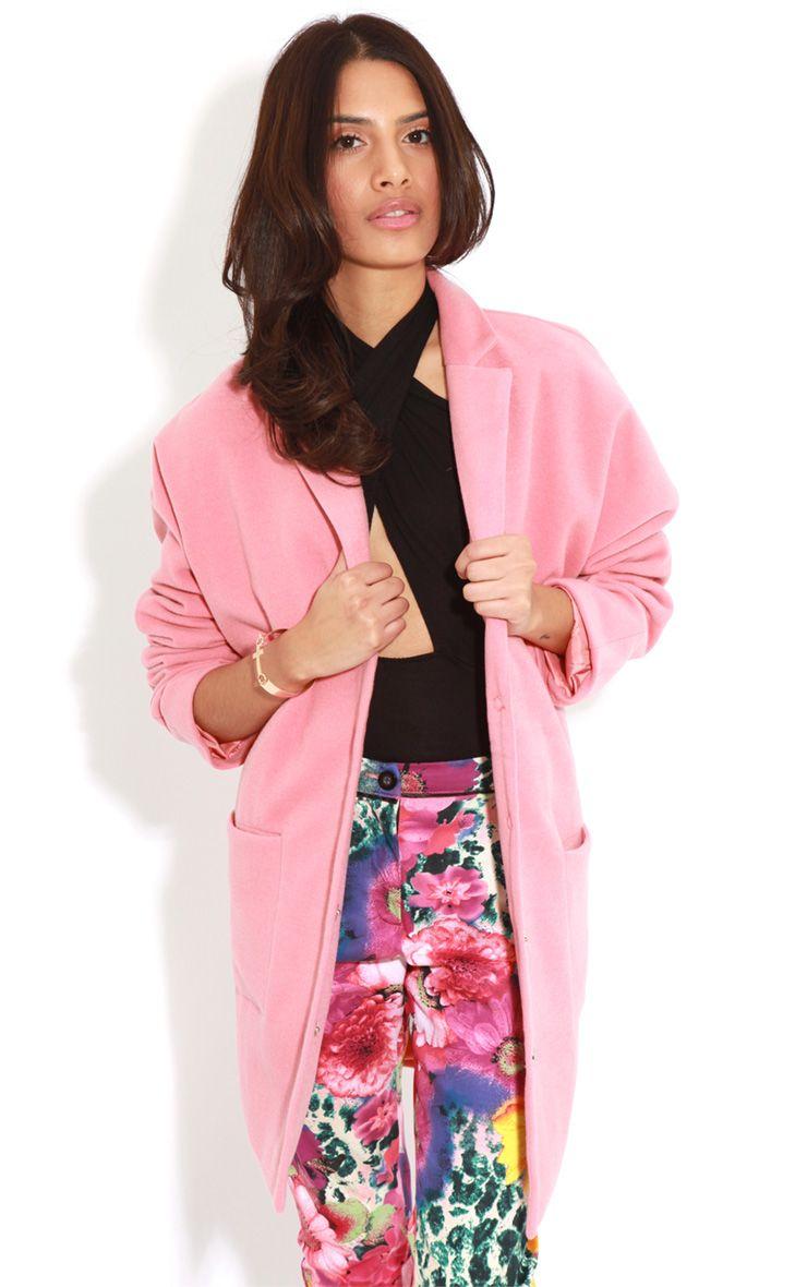 Hope Coral Oversized Boyfriend Blazer Coat  1