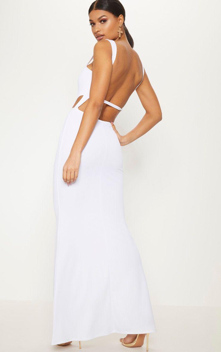 White V Bar Maxi Dress Pretty Little Thing hHMFlocGh