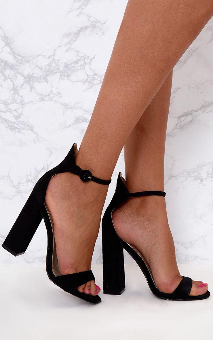 Sandales à gros talons noires