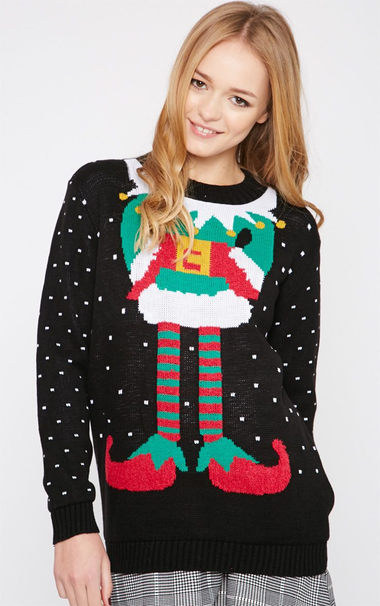 Cady Black Elf Christmas Jumper  1