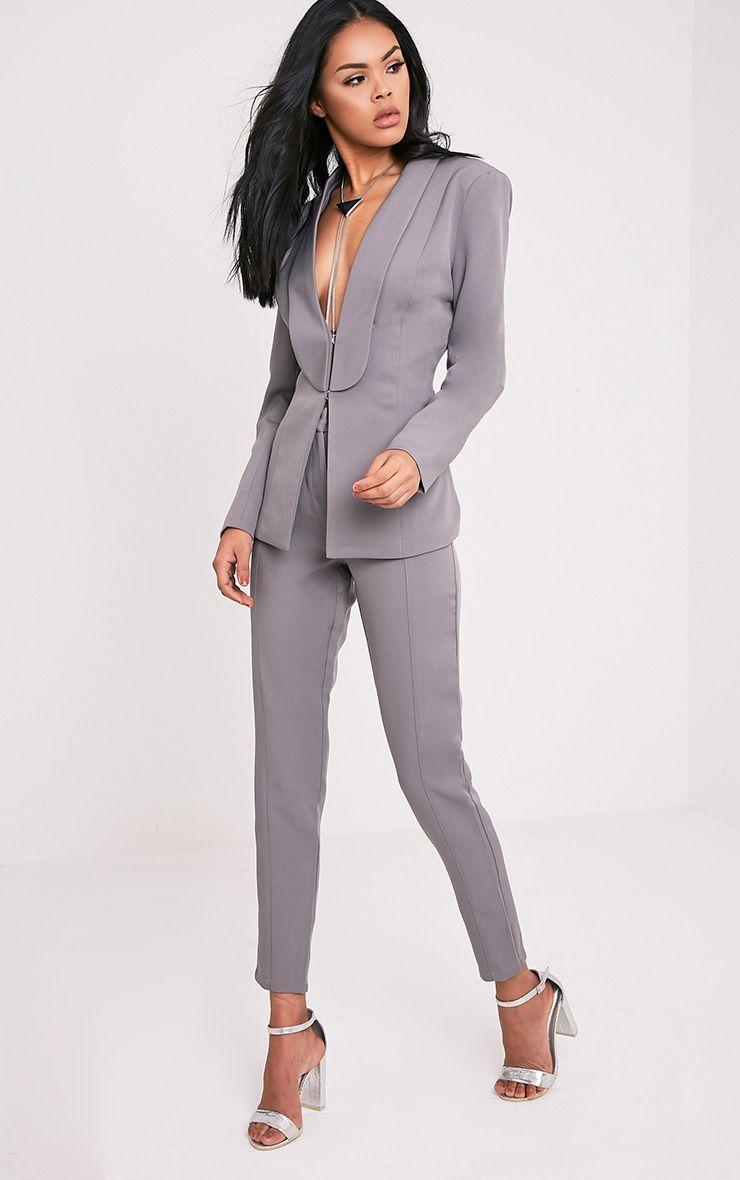 Avani Grey Suit Trousers 1