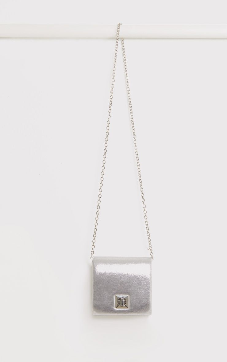 Arona Silver Square Twist Lock Bag