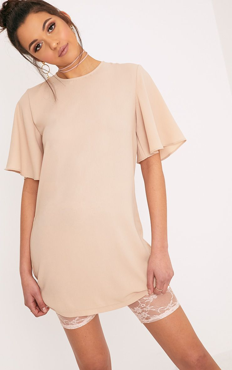 Ashanti Nude Short Sleeve Shift Dress