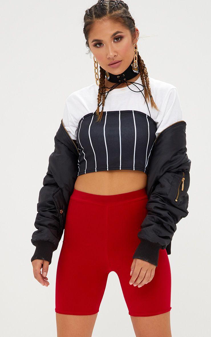 Black Stripe Bandeau