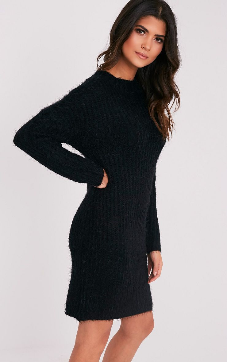 Gordania robe pull surdimensionnée noire en mohair 4