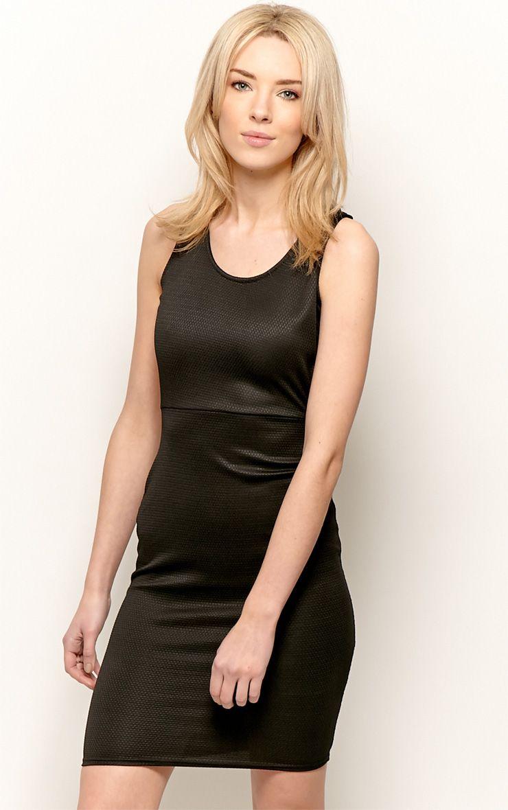 Zelia Black Backless Midi Dress 1