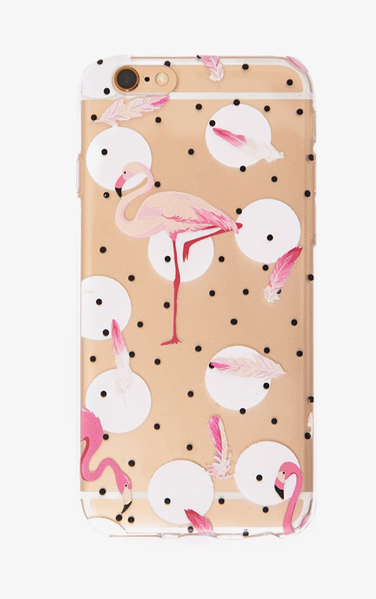Pink Polka Dot Flamingo Phone Case