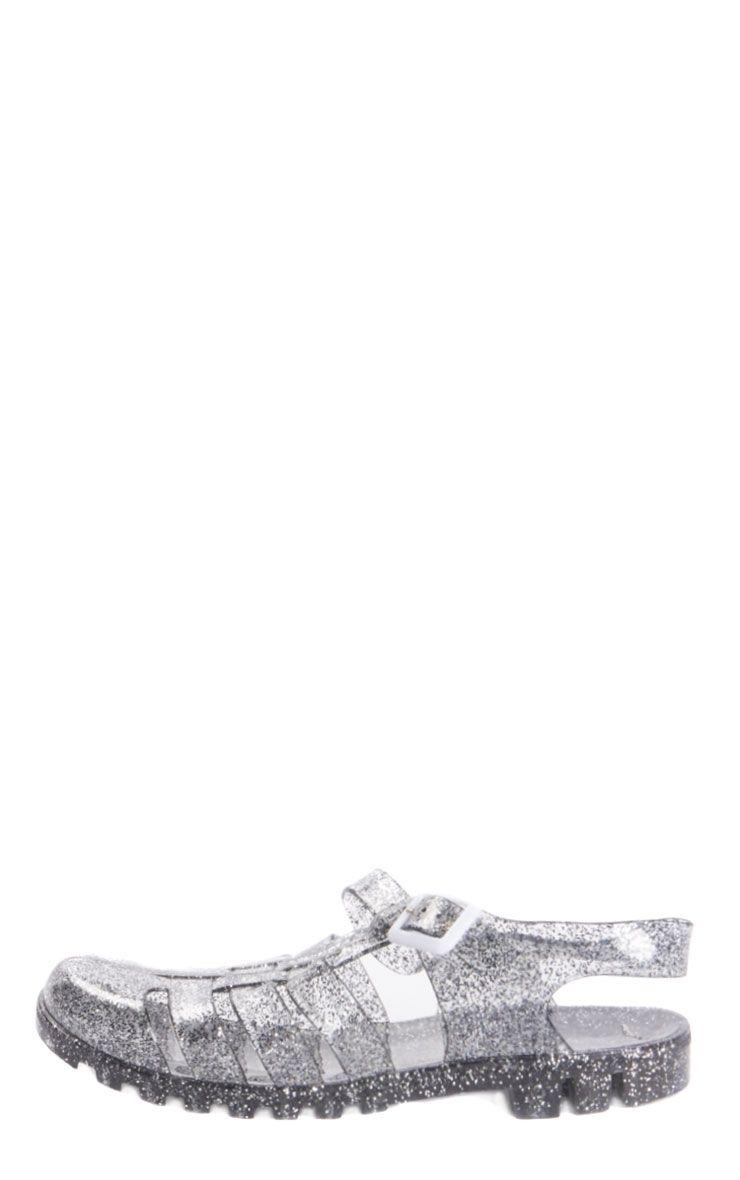 Raida Glitter Flat Jelly Sandal 1