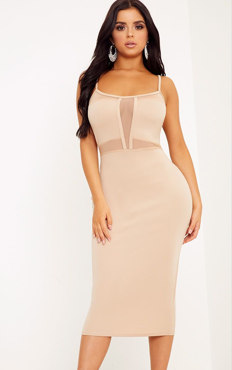 Shape Laida Nude Cami Mesh Insert Dress