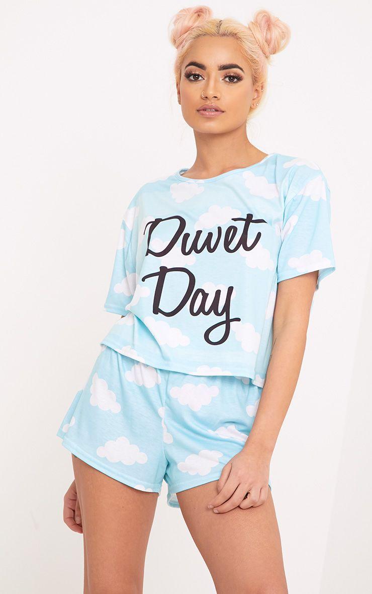 Duvet Day Blue PJ Set