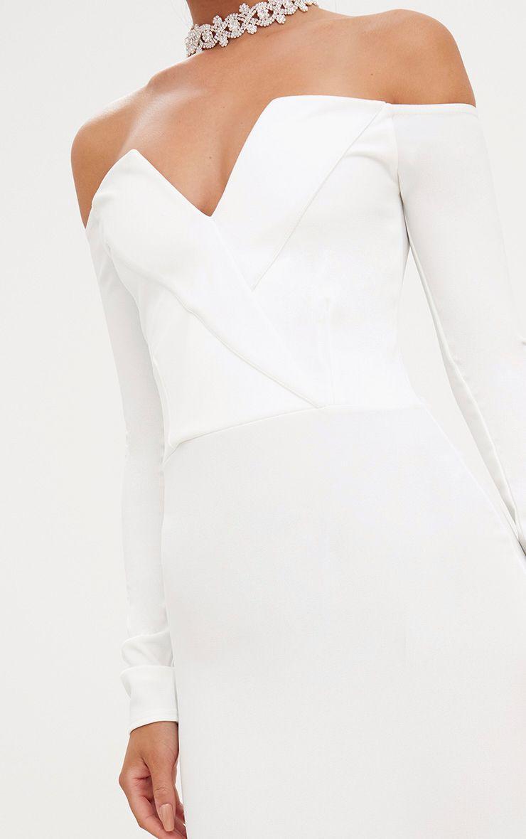 robe moulante blazer bardot blanche robes. Black Bedroom Furniture Sets. Home Design Ideas