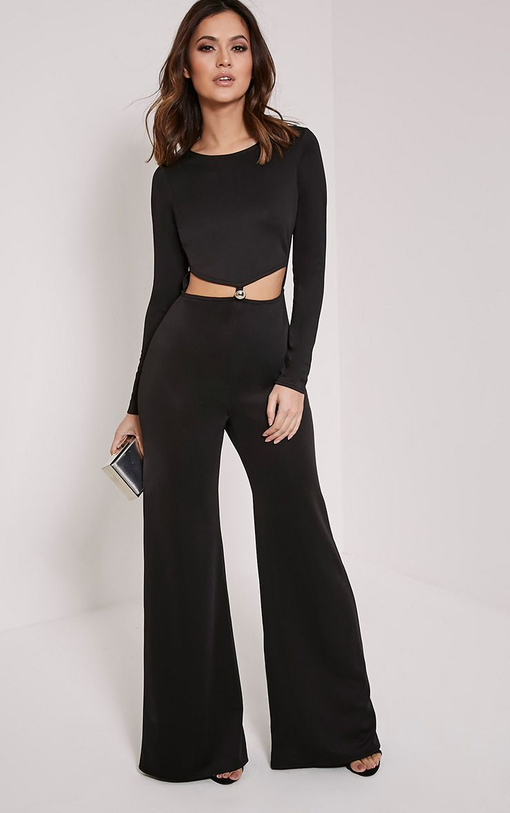 Lucie Black Cut Out Jumpsuit 1