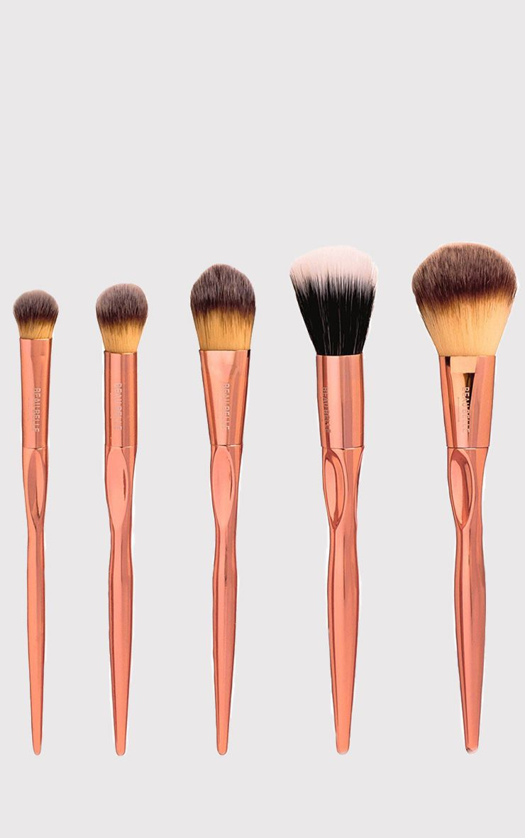 Beau Belle Brushes 5 Piece Rose Gold Set