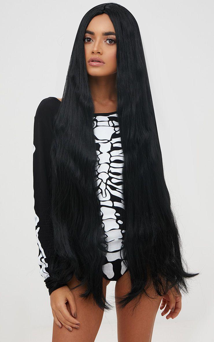 Halloween Black Extra Long Wig