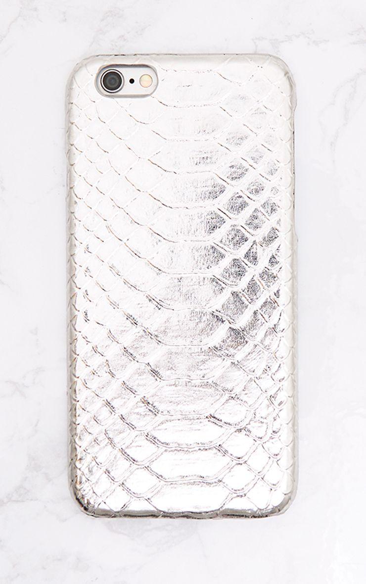 Silver Croc Iphone 6 Case
