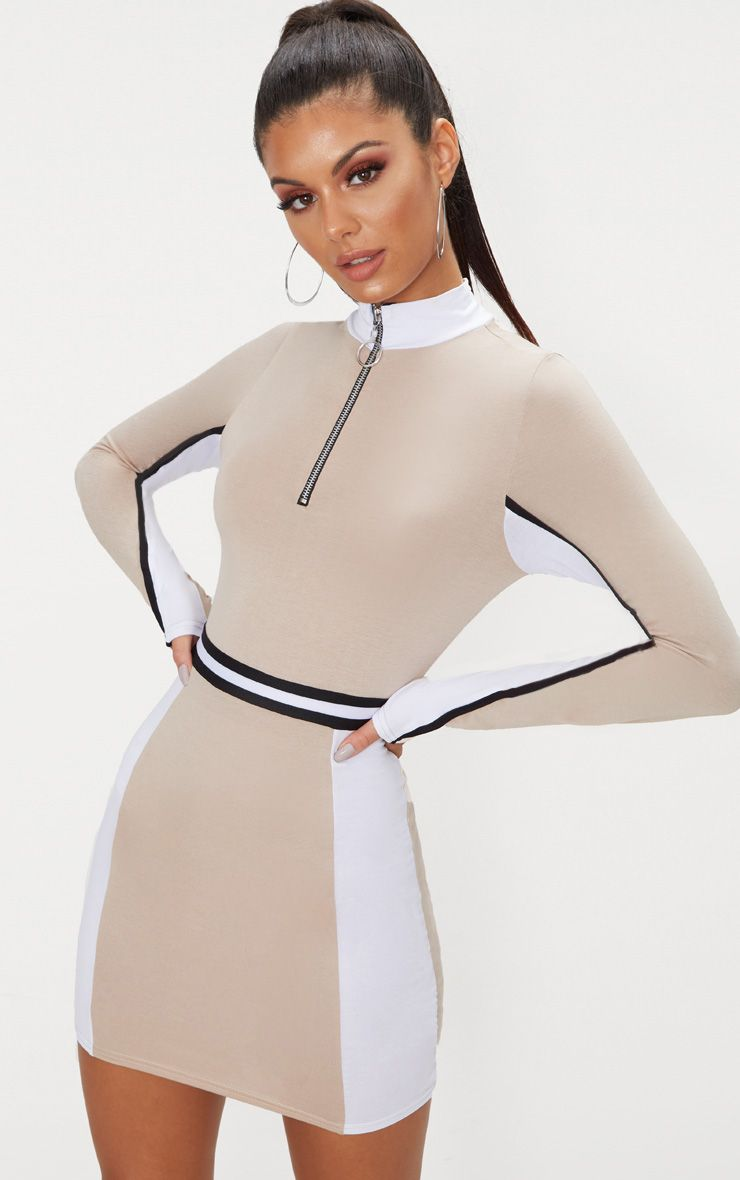 Stone Sports Stripe Zip Detail Dress