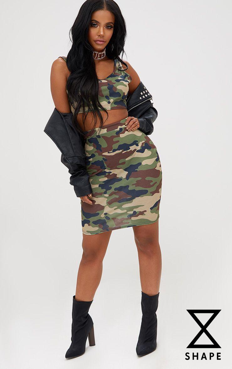 Shape Camo Mini Skirt