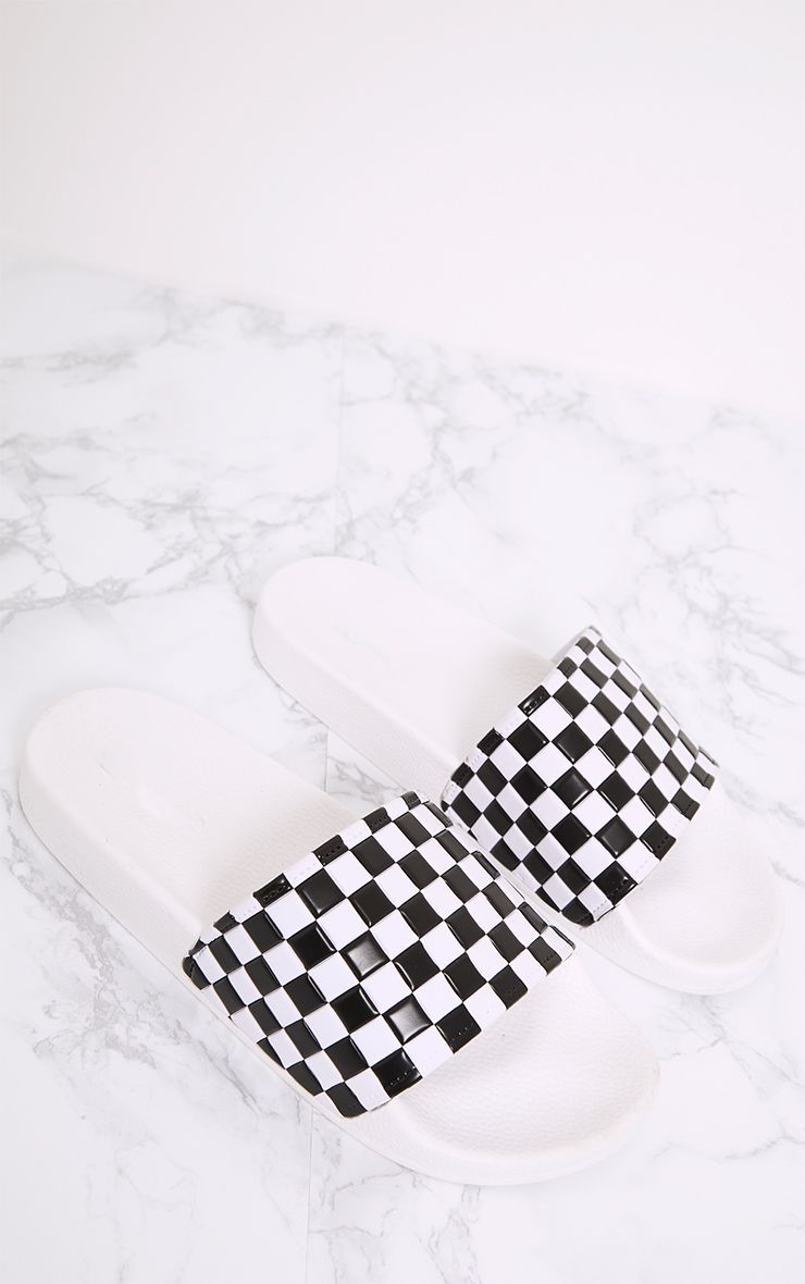 Black Checkerboard Sliders