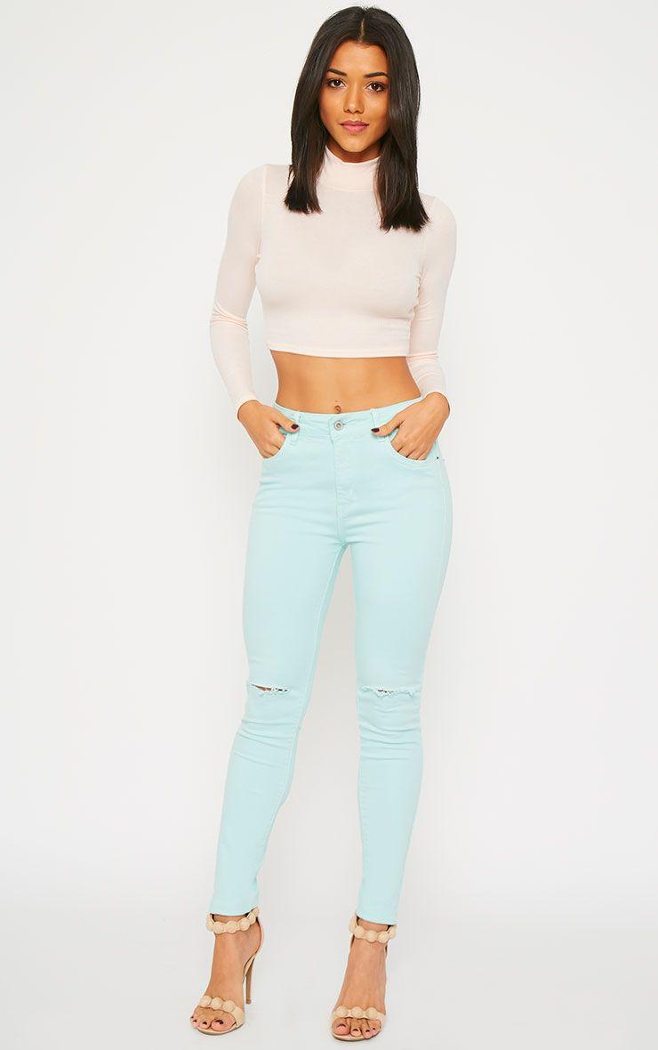 Talli Mint Ripped Knee Jeans 1
