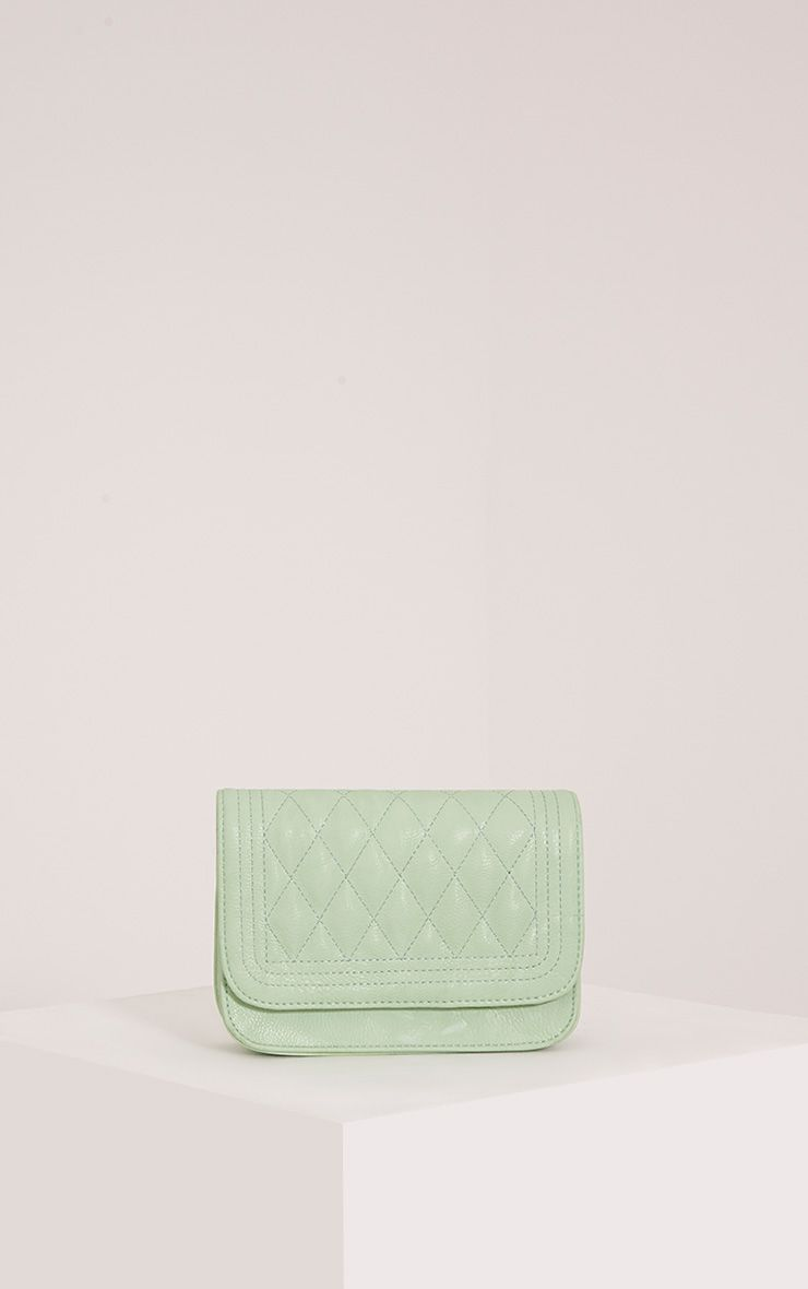 Emma Mint Quilted Chain Strap Shoulder Bag 1