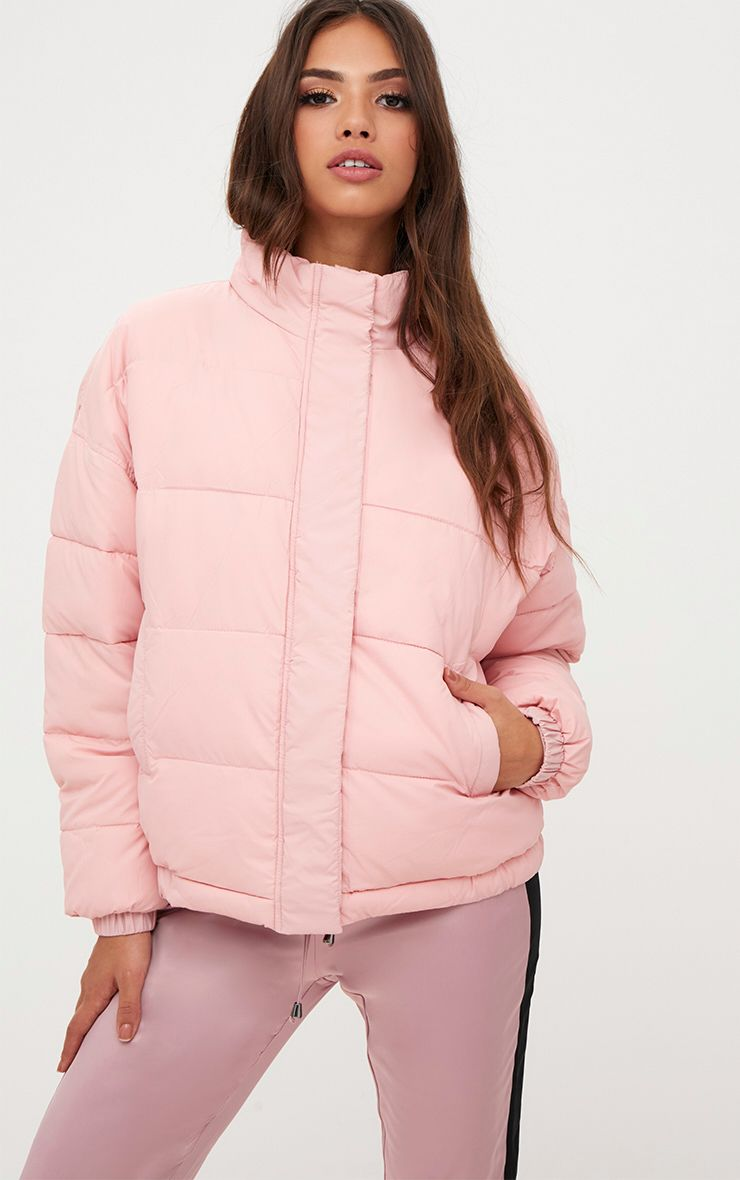 light pink coat s coats amp jackets winter coats prettylittlething 948