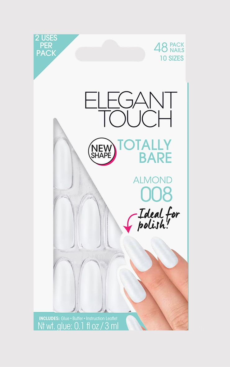 Faux ongles Almond - Totally Bare Elegant Touch