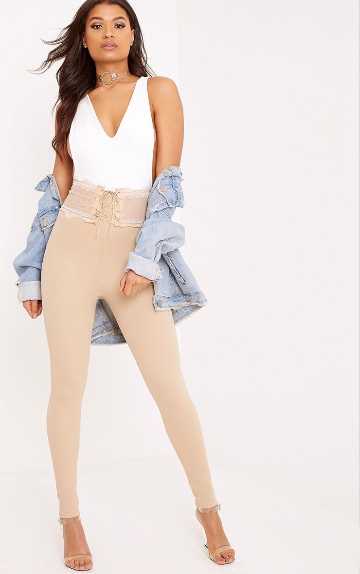 Azalea Stone Lace Corset Waist Trousers