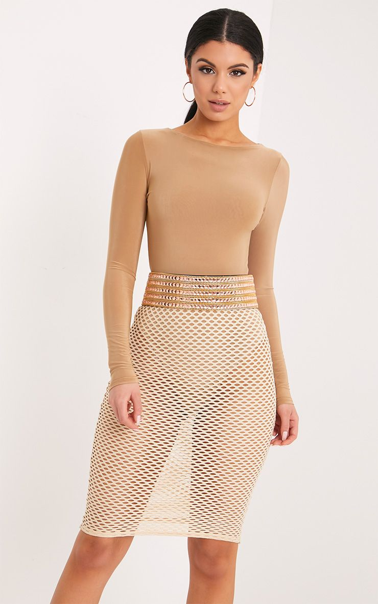 Carmel Rose & Gold Chain Waist Belt