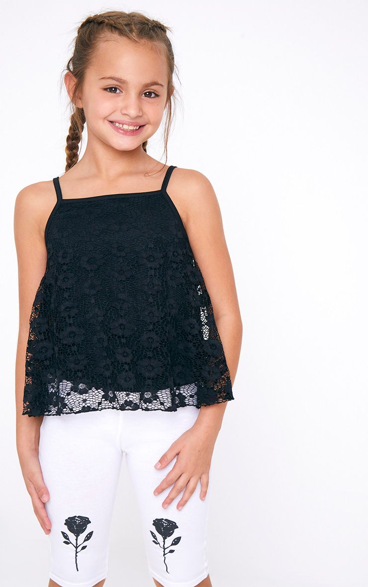 Lace Cami Black Top