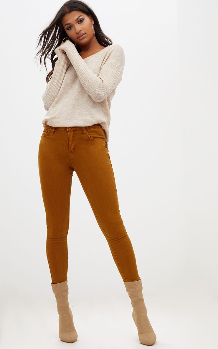 Mustard High Waisted Skinny Jean