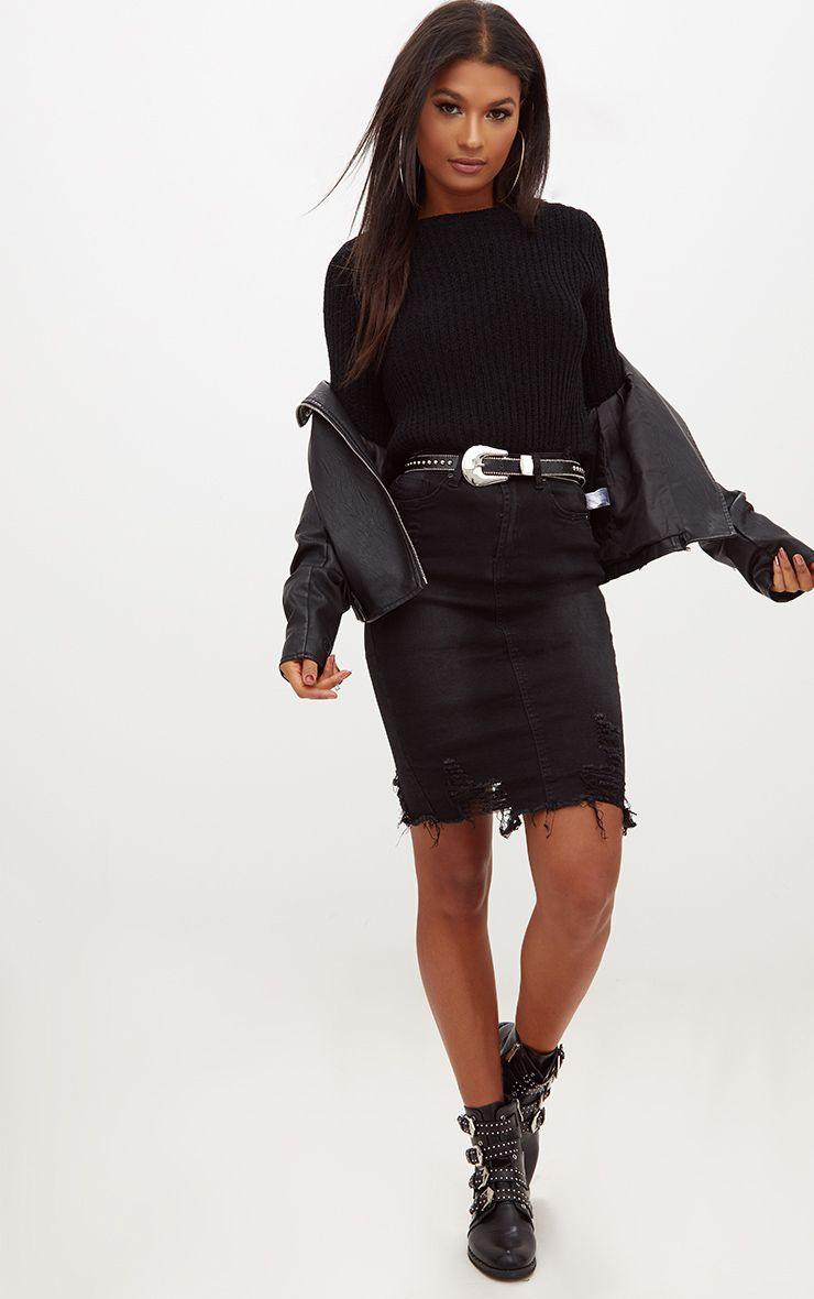 Denim Skirts | Womenu0026#39;s Denim Mini Skirt | PrettyLittleThing