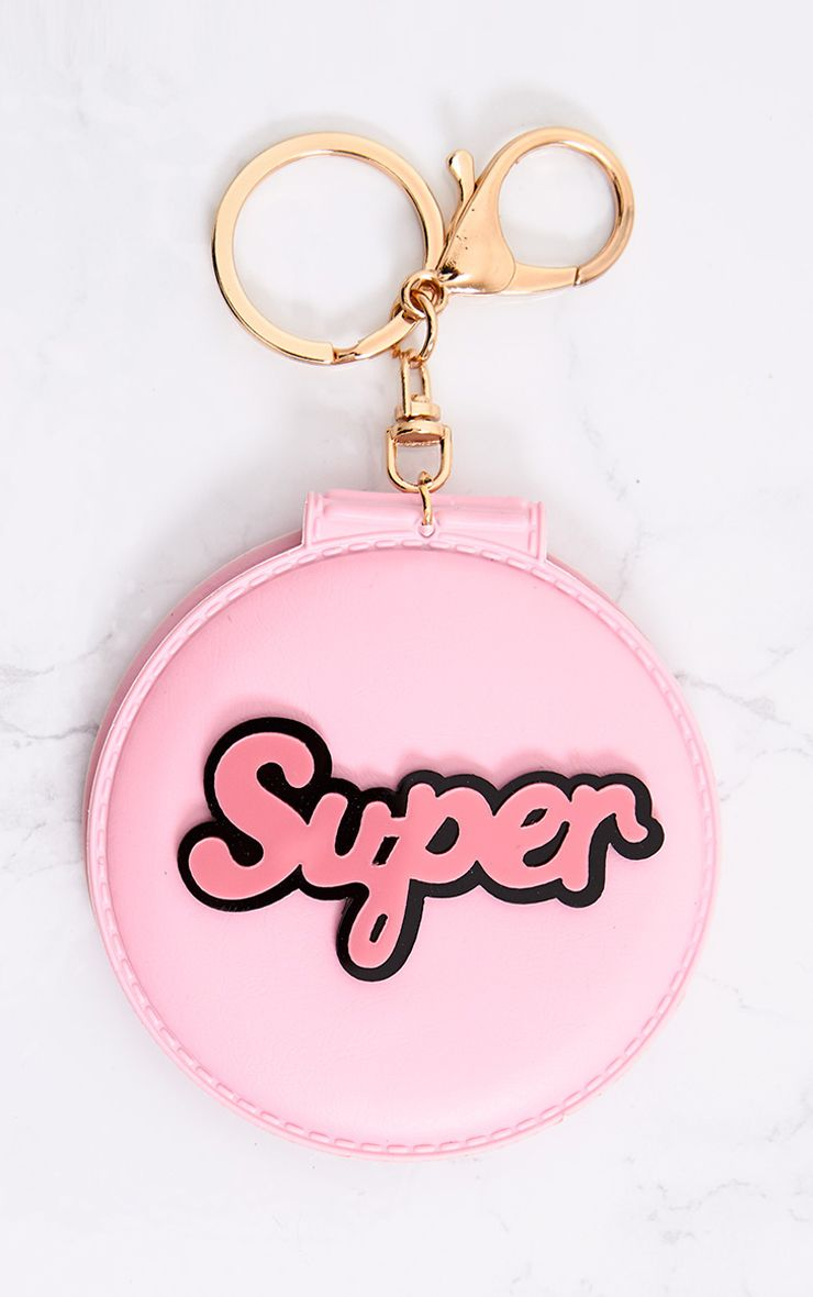 Pink 'Super' Mirror Keyring