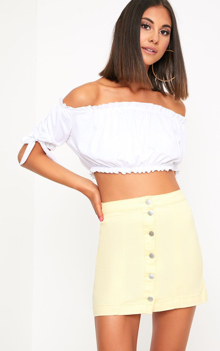 Yellow Denim Skirt