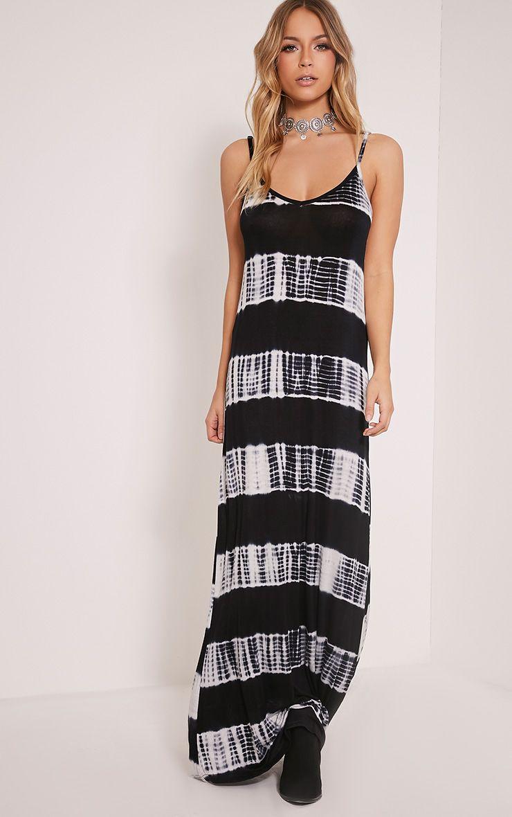Ranita Black Tie Dye Maxi Dress 1
