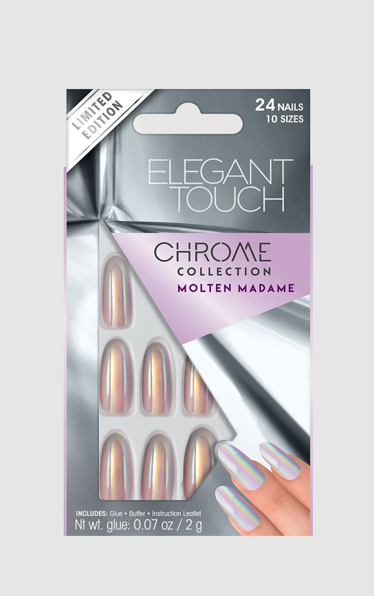 Elegant Touch Molten Madame Chrome Nails