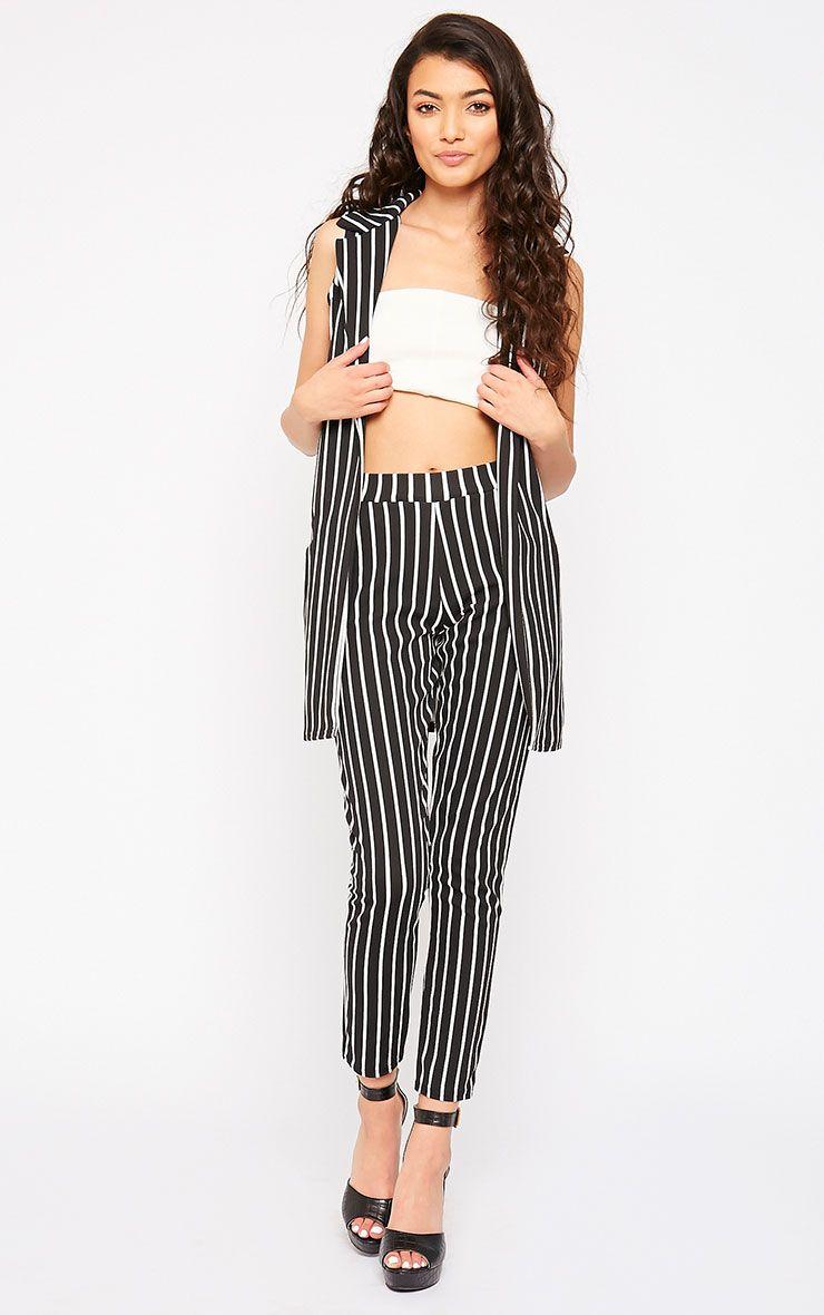 Jakoba Black Pinstripe Trousers 1
