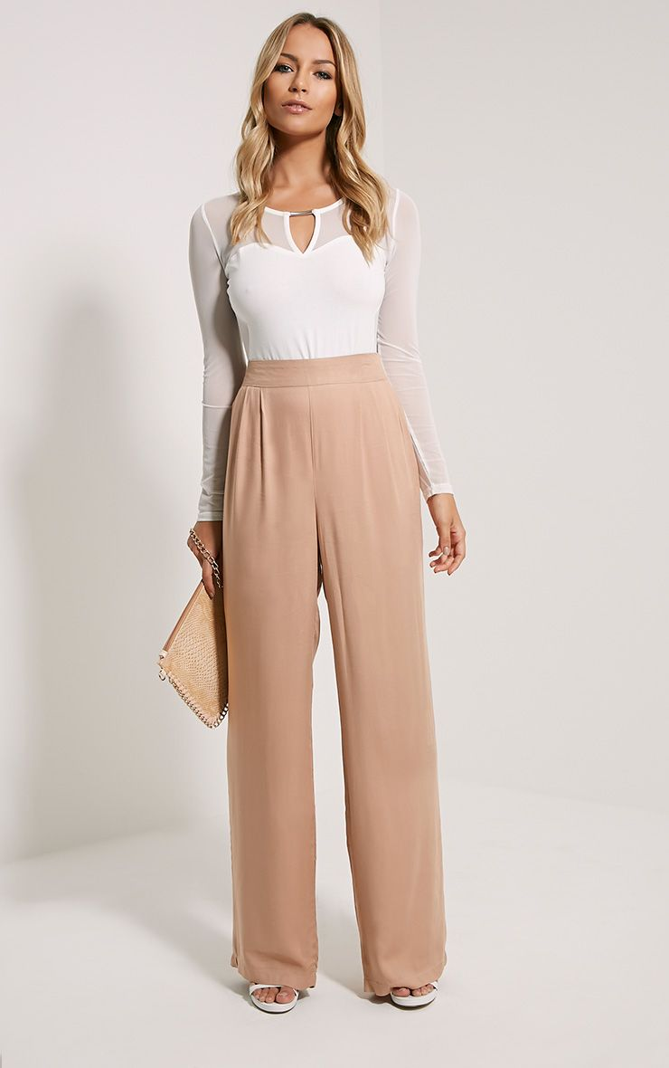 Posey Tan Relax Fit Trousers 1
