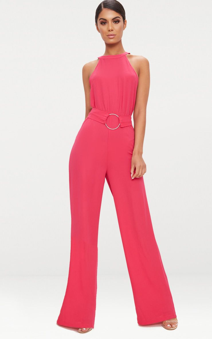 Fuchsia Ring Detail Jumpsuit