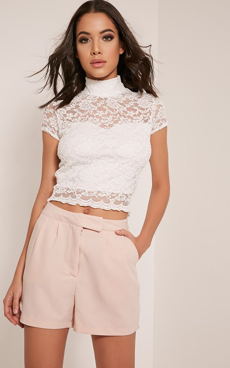 Brenna Cream Lace Short Sleeved Top 1