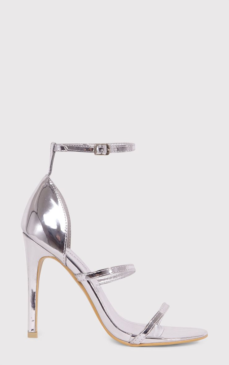 Leyah Silver Multi Strap Heeled Sandals