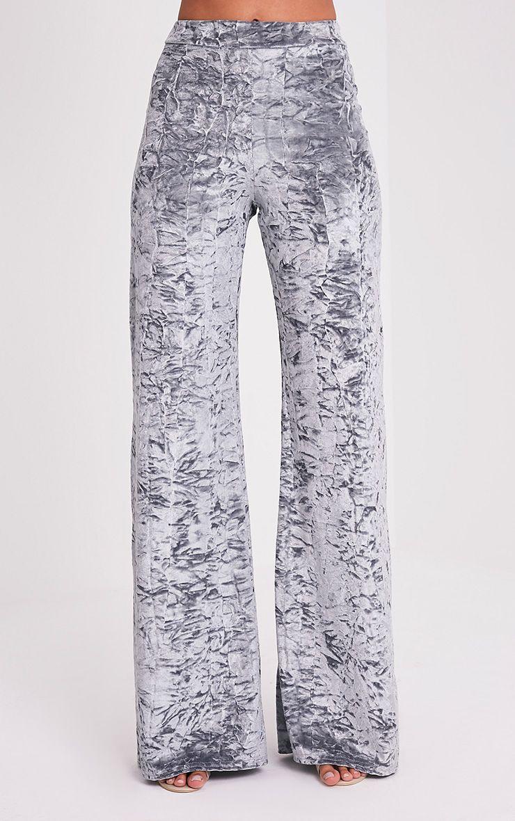 Jill pantalon en velours écrasé gris 2